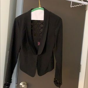 Material girl jacket with cutouts